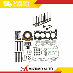 Full Gasket Set Intake Exhaust Valves Fit 03-11 Mazda Ford Duratec 2.0 2.3 Dohc