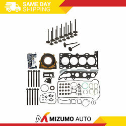 Full Gasket Set Intake Exhaust Valves Fit 2007 Ford Focus Duratec 2.0 Dohc