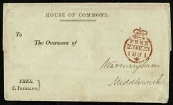 1831 House Of Commons And039freeand039 Printed Lettersheet F.freeling Rare