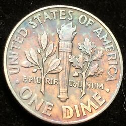 1964 Roosevelt Dime Full Torch Beautiful Coin Great Luster