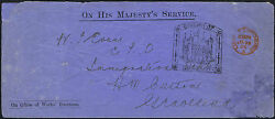 1906 Rare Office Of Works With Tower Of London Handstamp London Gravesend