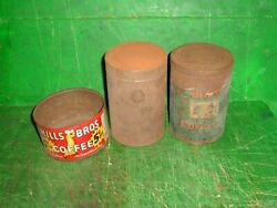 Rare Vtg Lighthouse Coffee Tin And Maxwell House Paper Label And Hills Brothers