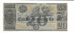 20 New Orleans Maiden Blue Louisiana Canal And Banking Company 18xx G32 Plate B