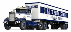 Peterbilt 351 Day Cab With 40' Vintage Trailer Burgermeister Blue And White...