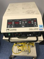 Conmed Sabre 2400 Electrosurgical Unit With Foot Pedals Medical Surgical Device