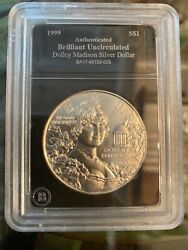 1999 Dolly Madison Uncirculated Brilliant Silver Dollar Designed By And Co