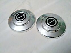 Nice Old Pair 1969 -1972 Buick Opal Wheel Covers 7 Dog Dish Type Hubcaps