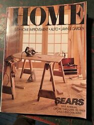 Vintage 1992 Sears Home Catalog Tools Auto Lawn Garden Home Improve Electronics