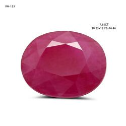 7.85 Carat Natural Red Ruby Oval Shape Cut And Polished Heated Faceted Gemstone