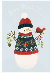 Cute Snowman Charity Christmas Cards From Hallmark - Pack Of 8 With 1 Design