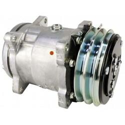 8810018 Genuine Sanden Sd5h14 Compressor W/ 2 Groove Clutch - New Fits Ford