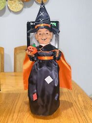 Witch Telco Animated And Illuminated Motion-ettes Display Figure Halloween Vintage