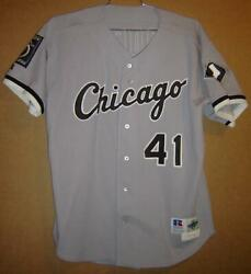 1995 Chicago White Jackie Brown Gray Button-down Mlb Baseball Size 48 Jersey