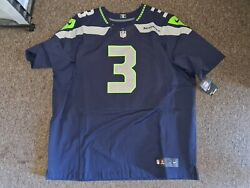 Russell Wilson 3 Seahawks 2013 Home Authentic Nike Elite Football Jersey 56 Nwt