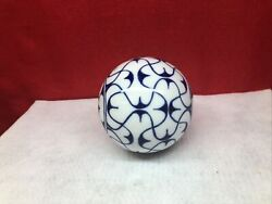 Blue And White Porcelain Decorative Ball 3.25and039and039 Decorative