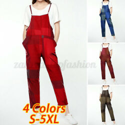 Womens Jumpsuit Strappy Dungarees Ladies Romper Casual Loose Overalls Long Pants