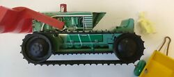 Marx Tractor Bulldozer With Trailer And Installation Instructions.