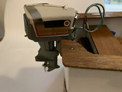 Vintage 1958 Kando Evinrude Outboard Toy Boat Motor Starflite V4 Four Fifty 50 Hp
