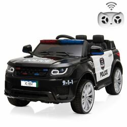 12v Kids Electric Police Car Ride On Car Suv Truck Toys With Remote Control Mic