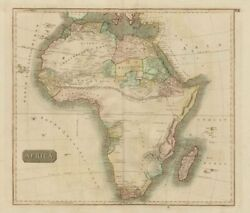 Pre-colonial Africa. Mountains Of Kong/moon. Caravan Routes. Thomson 1817 Map