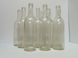 12 Empty Used Clear Glass Wine Bottles 750 Ml Capacity