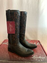 Lucchese Womens M4644 Mesh Lace Western Cowboy Boots New Size 8 Black