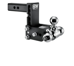 Bandw 10,000lbs Black Tow And Stow 3 Ball Trailer Hitch With 5 Drop - 2 Receiver
