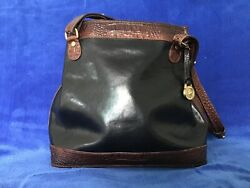 Brahmin Black and Pecan Bucket Handbag $54.00