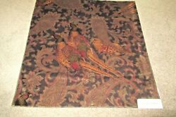 Italy Sable Hunting Manor Paisley Velvet Cotton Cloth Lfy 50361f