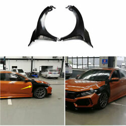 Steel Fender Side Air Outlet Wide Body Trim Fit For Honda Civic Type-r 2016-2020