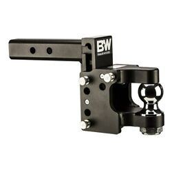Bandw 16000lbs Black Tow And Stow Pintle Trailer Hitch 8.5 Drop - 2.5 Receiver