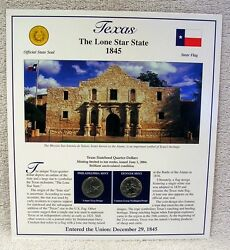 2004 Texas State Quarter P And D Mint - Postal Commemorative Society - Statehood