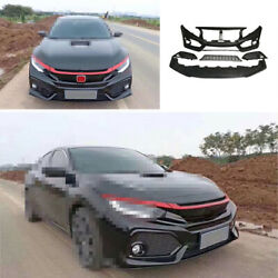 Front Skid Plate Bumper Board Guard Unpainted Fit For Honda Civic Si 2016-2020