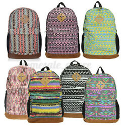 Retro Girl Student Canvas Satchel Backpack School Shoulder Travel Ba $24.43