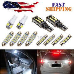 White Led Interior Light Package License For Chevy Silverado 1500 2500 2007-2013