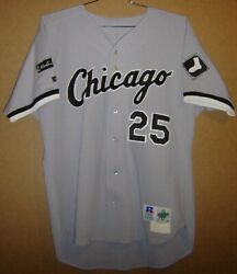 1997 Chicago White Sox Mike Pazik 25 Gray Button-down Mlb Size 48 Jersey
