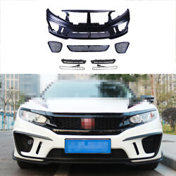 Front Skid Plate Bumper Board Guard Unpainted Fit For Honda Civic Ms 2016-2020