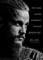 Vikings Ragnar Quotes Black Poster Premium Photo Paper Without Frames
