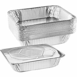 Nyhi 9andquot X 13 Andrdquo Aluminum Foil Pans With Lids 10 Pack Durable Grill And