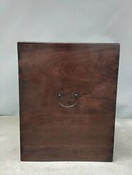23.6 Antique Old China Huanghuali Wood Hand Made Box Asian Collection