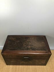 14.1 Antique Old China Huanghuali Wood Grimace Jewelry Box Asian Collections