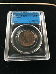 1900  Cccs Graded Canadian, Large One Cent, Ms-64