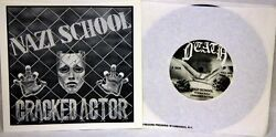 Cracked Actor Nazi School 45 Rpm Single Punk 1981 Death Records 2nd Pressing