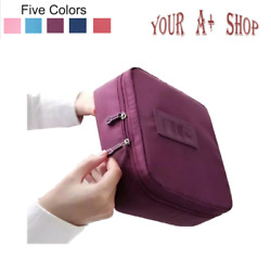 Travel Cosmetic Bag Toiletry Wash Zip Pouch Multi Function Women Makeup Case NEW $6.35