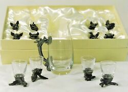 Zodiac Wine Set/decanter With 12 Shot Glasses Set/drinking Cups, Lead-free
