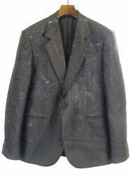 Versace 19aw Embroidery Tailored Jacket Black 52 Men's