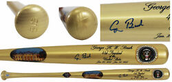 George H.w. Bush Signed Seal Of The President Commemorative Bat Bas A30382