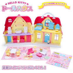 New Sanrio Official Store Hello Kitty Dollhouse Deluxe With Figurine Free/s