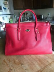 New Medium SizedvRed Coach Bag with Tags Free Shipping $115.00