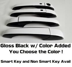 Gloss Black And Color Door Handle Overlays 2011-2016 Jeep Compass You Pick Clr